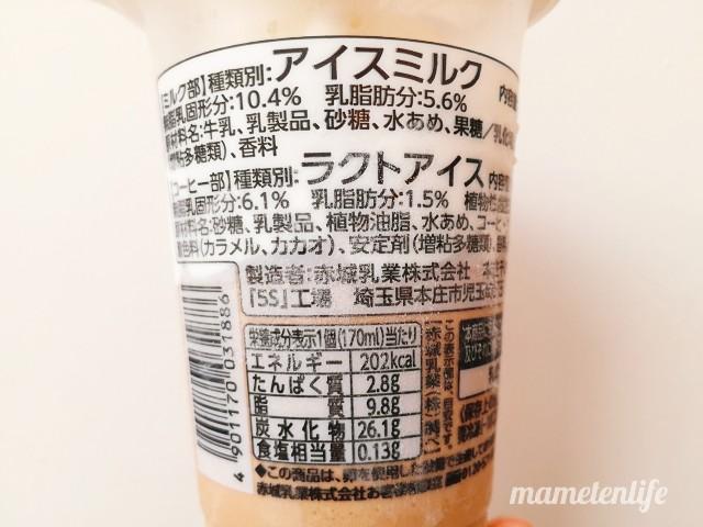 ファミリーマートたべる牧場コーヒーの原材料名・カロリーなど