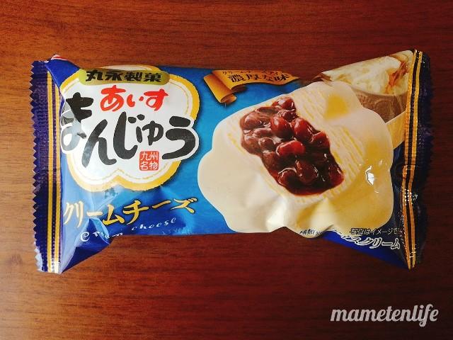 丸永製菓あいすまんじゅうクリームチーズのパッケージ