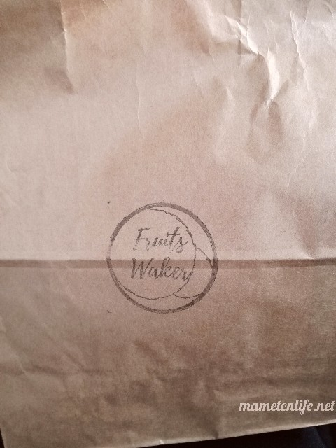 Fruit Waker(フルーツウェイカー)の紙袋