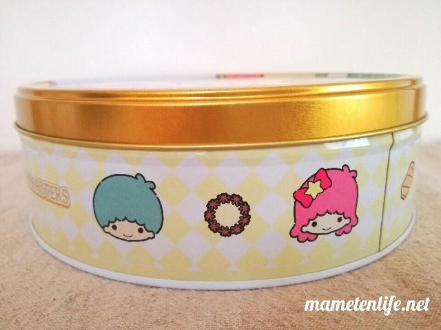 ブルボントルテクッキー缶(サンリオキャラクターズ)の側面