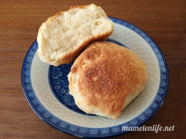 発酵なしヨーグルトパンの断面