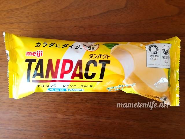 明治タンパクトアイスバーレモンヨーグルト味のパッケージ