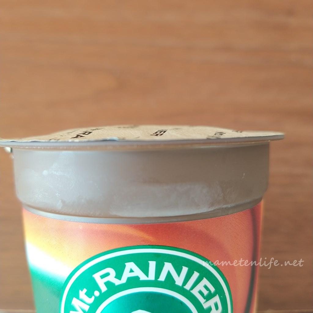 マウントレーニア エスプレッソを冷凍して膨らんだ内フタ