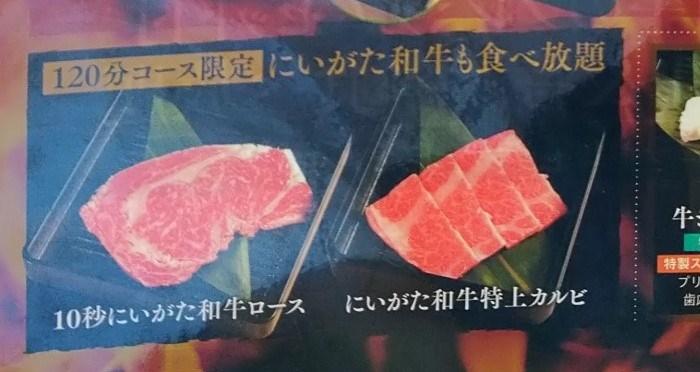 キラキラレストラン焼肉黒真の120分コースで追加される2品