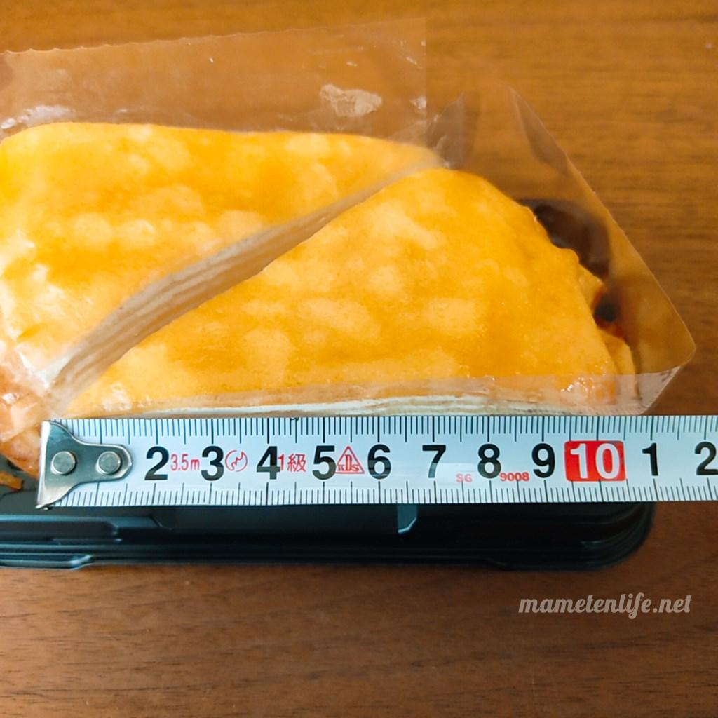 山崎製パンのミルクレープの直径