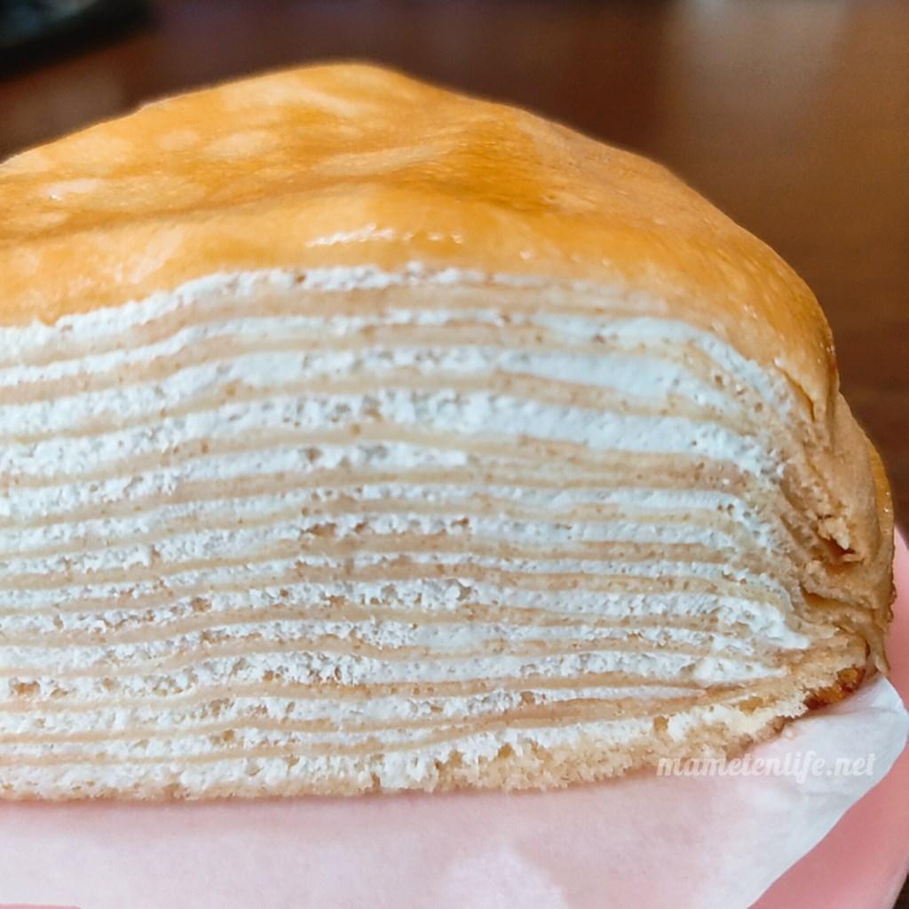 山崎製パンのミルクレープのアップ
