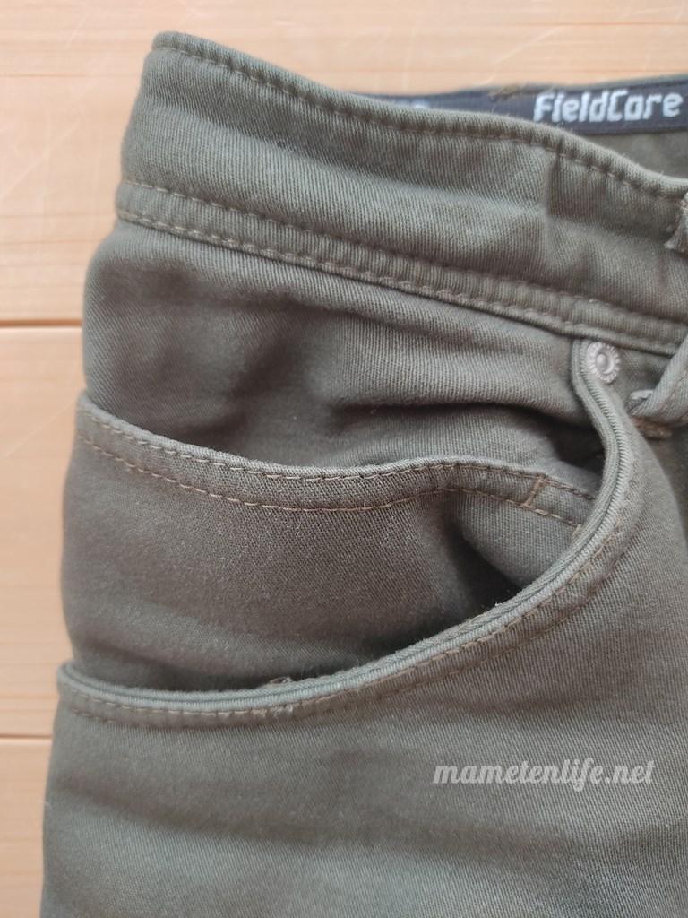ワークマンSTRETCH(ストレッチ)マイクロウォームパンツのポケット