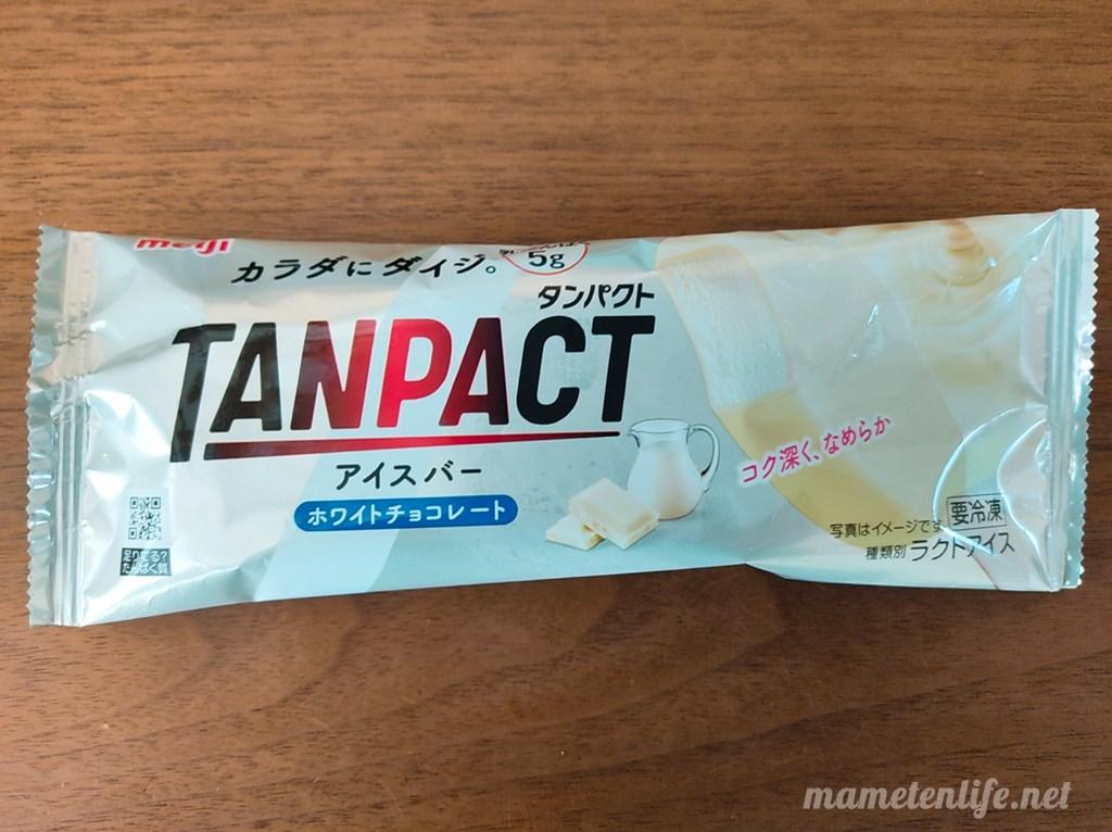 明治タンパクトアイスバーホワイトチョコレートのパッケージ
