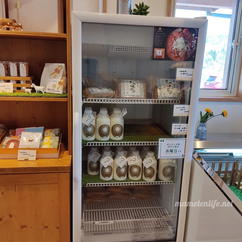 加勢牧場わしま本店の冷蔵ケース