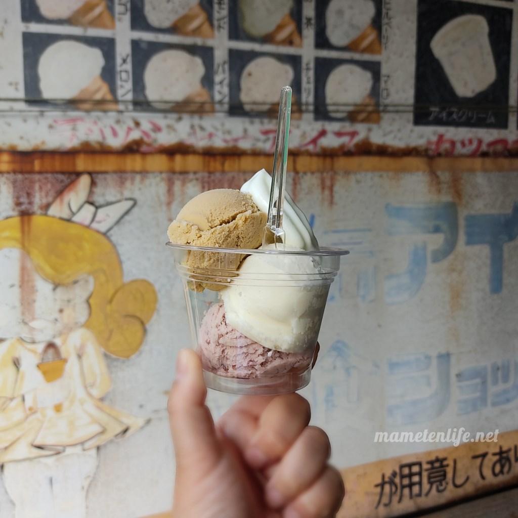谷信菓子店のふわふわクリームアイス