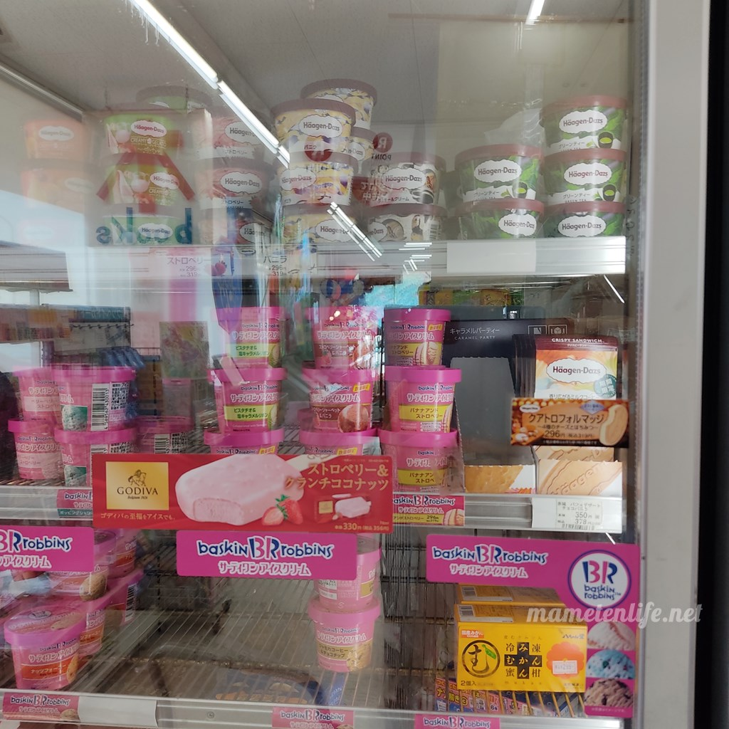 デイリーヤマザキ新潟大島店の高級アイスコーナー