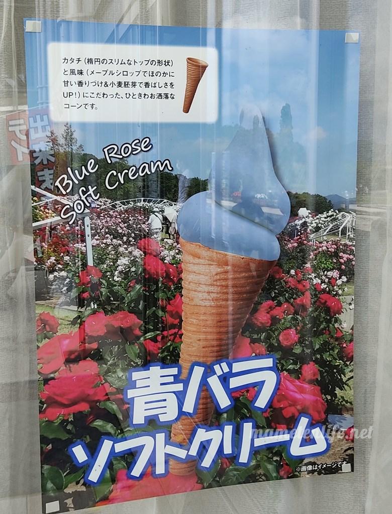 長岡丘陵公園青バラソフトクリームのポスター