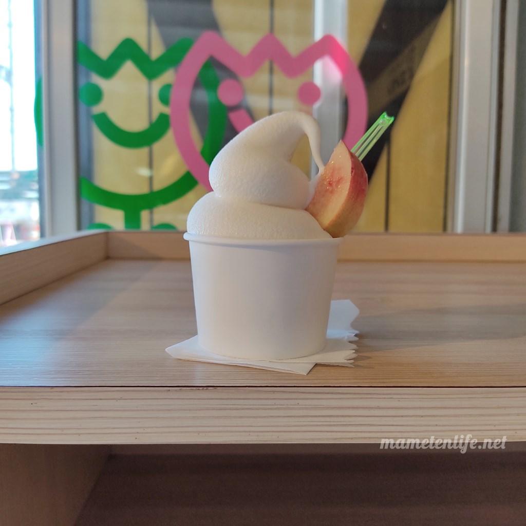 フルーツ童夢コンタンのソフトクリーム(カップ)