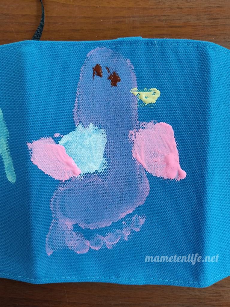 4歳の足型アート ペンギン