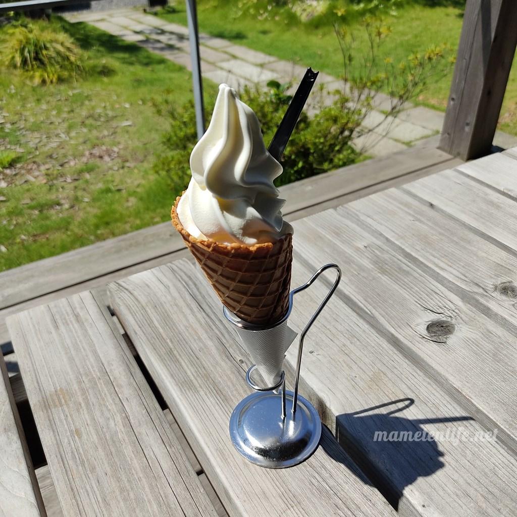 タイボーコーヒー&ジェラートソフトの中標津ミルクソフトクリーム(2021年8月)