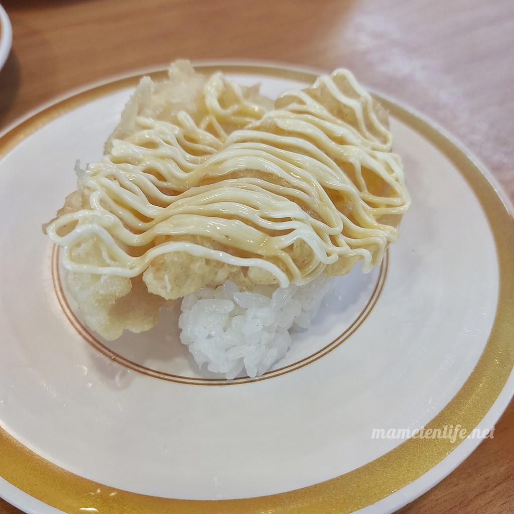 かっぱ寿司の白身魚天マヨ
