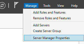 Add Roles and Featuresをクリックします