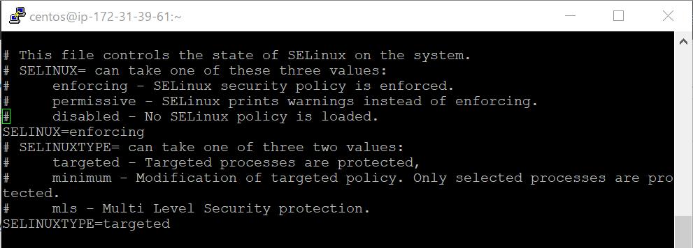 SELinux設定