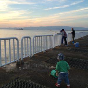 南港魚つり園護岸