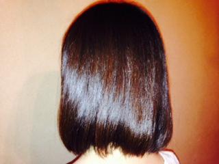 haruシャンプーを9カ月使用した女性の髪画像
