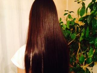 haruシャンプーを使用した高校生女性の髪画像