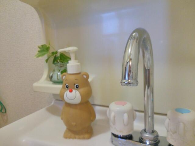お酢でピカピカにした洗面所の蛇口画像