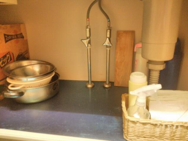 キッチンのシンク下の収納画像