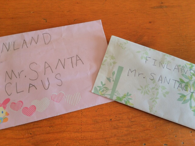 娘がサンタさんに書いたお手紙画像