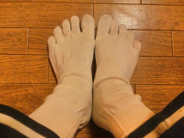 山忠シルク5本指靴下画像
