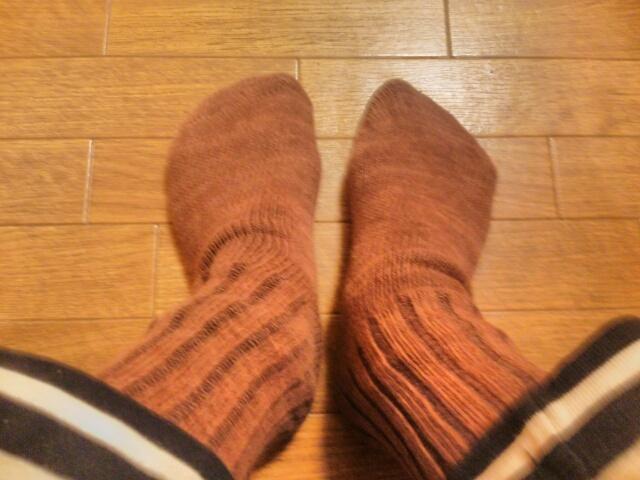 厚めの綿100%靴下