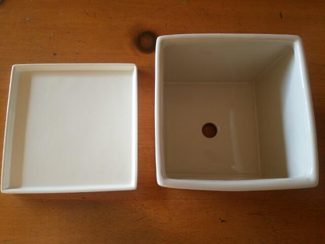ニトリ 植木鉢 皿付きプランター4号画像