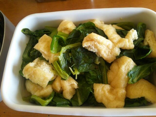今週の常備菜 小松菜と油揚げの炊いたのの画像