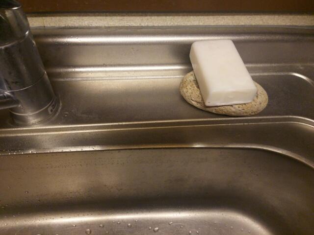 肌に合わなかった無添加せっけんを食器用洗剤に使ってる画像