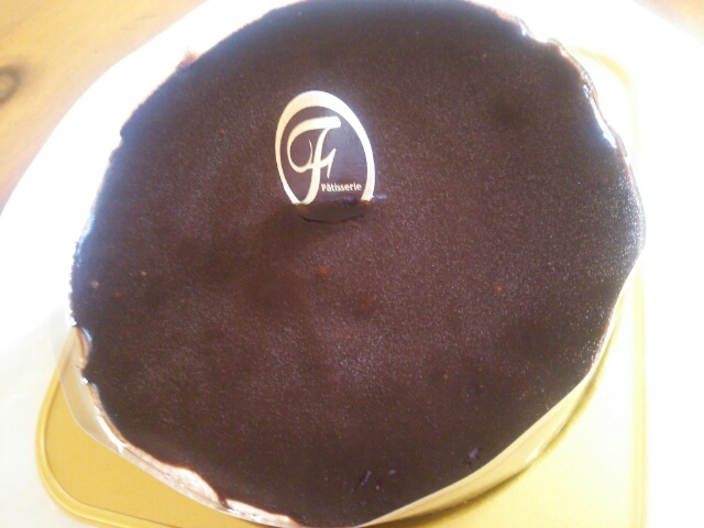 不二家のチョコレートケーキ画像