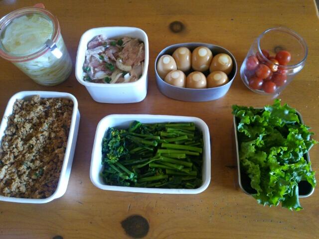 今週の下ごしらえと常備菜画像