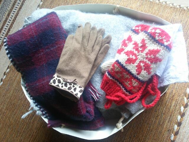 自宅でクリーニングしたアイロンがけする前の冬モノ衣類画像