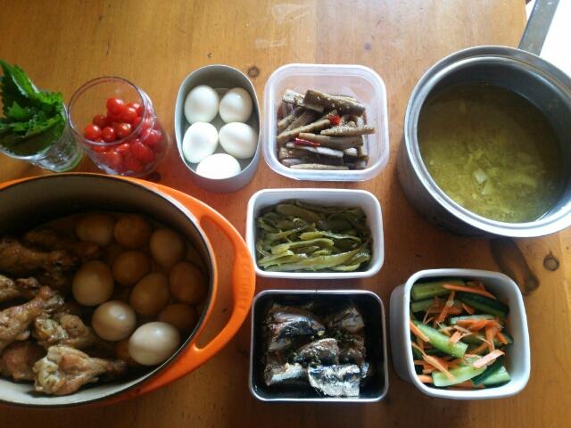 今週の常備菜と作り置き画像