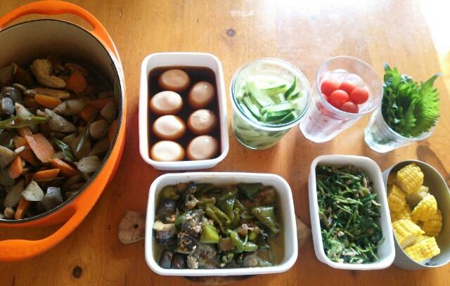 2016年6月13日 今週の常備菜と下ごしらえ画像