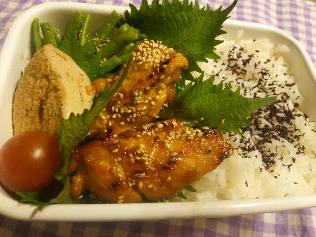 鶏胸肉の自家製焼き肉のたれ焼き弁当画像