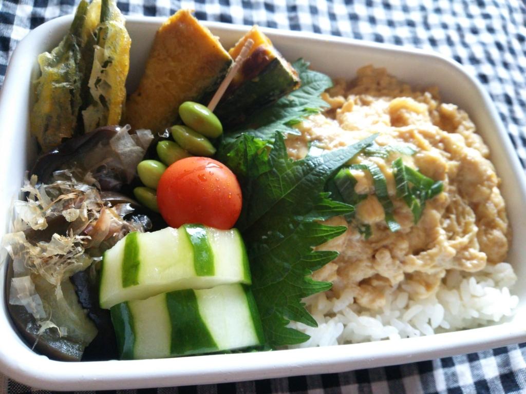 きつね丼と夏野菜の天ぷら弁当画像