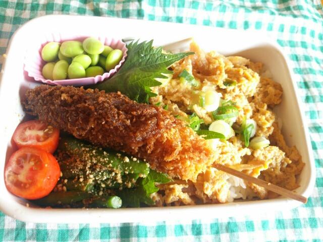 玉子丼と串カツ弁当画像
