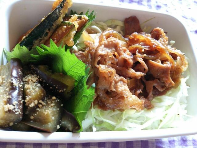 生姜焼き丼弁当画像