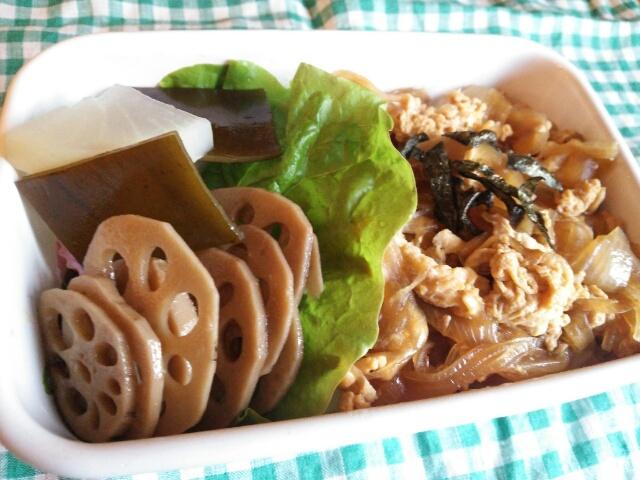 玉子丼弁当画像