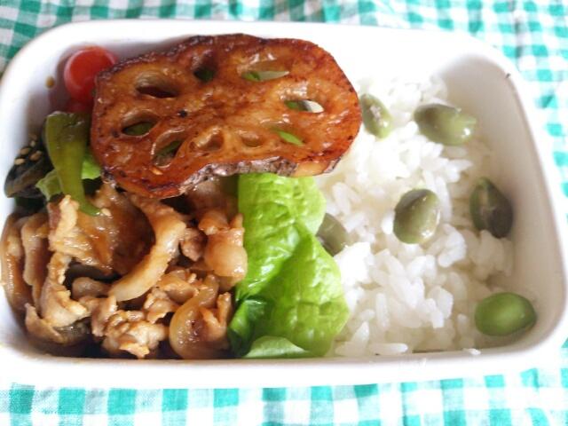 豚肉の野菜炒め弁当画像