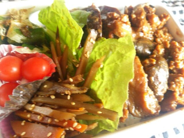 茄子とそぼろの味噌炒め丼弁当画像
