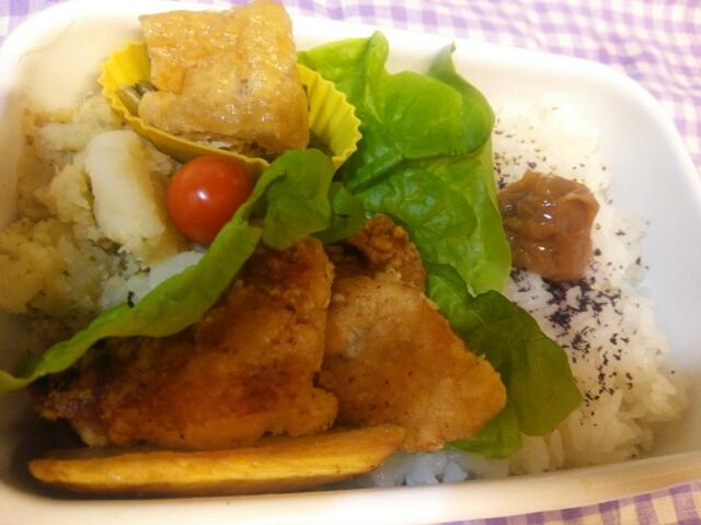 鶏むね肉の唐揚げ弁当画像