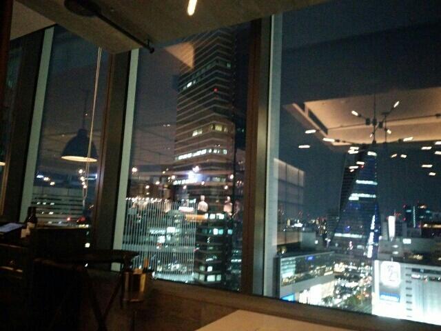 名古屋JRゲートタワー内ジョニーズブラッセリーからの夜景