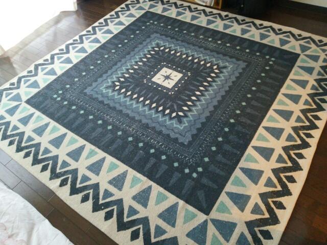 ニトリのラグ~インド綿100%(180×180)
