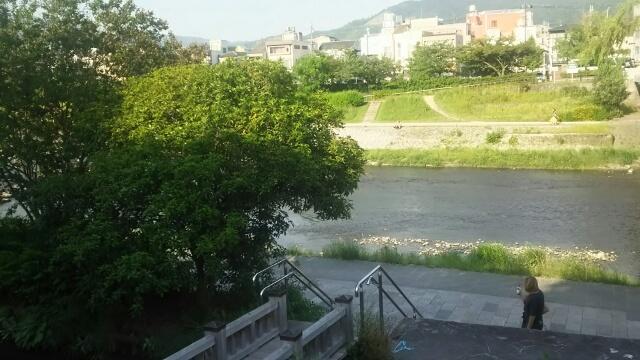 リッツ京都の東側を流れる鴨川