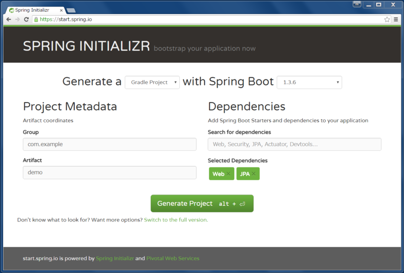 page-spring-initializr